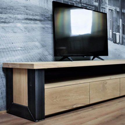 TV meubel eiken industrieel Chamonix