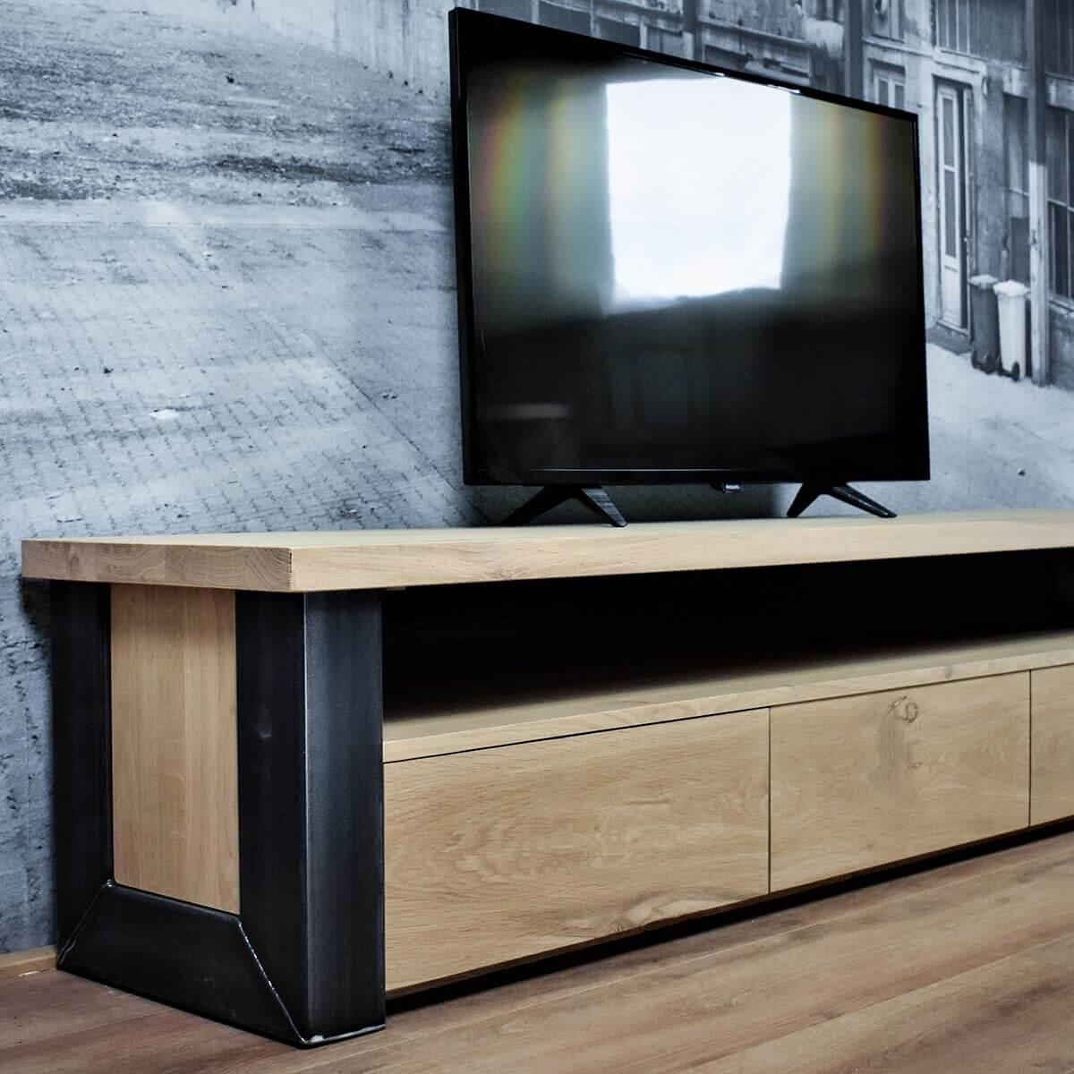 Tv Audio Meubel.Tv Meubel Eiken Industrieel Chamonix Gewoon Sfeervol