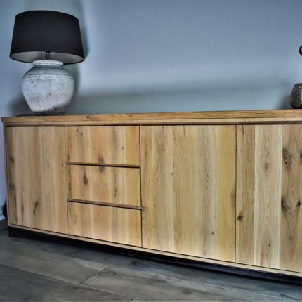 Dressoir Eikenhout Modern.Eiken Dressoir Met Industrieel Design Met U Frame Gewoon Sfeervol