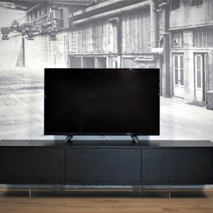 Zwevend TV meubel zwart eiken