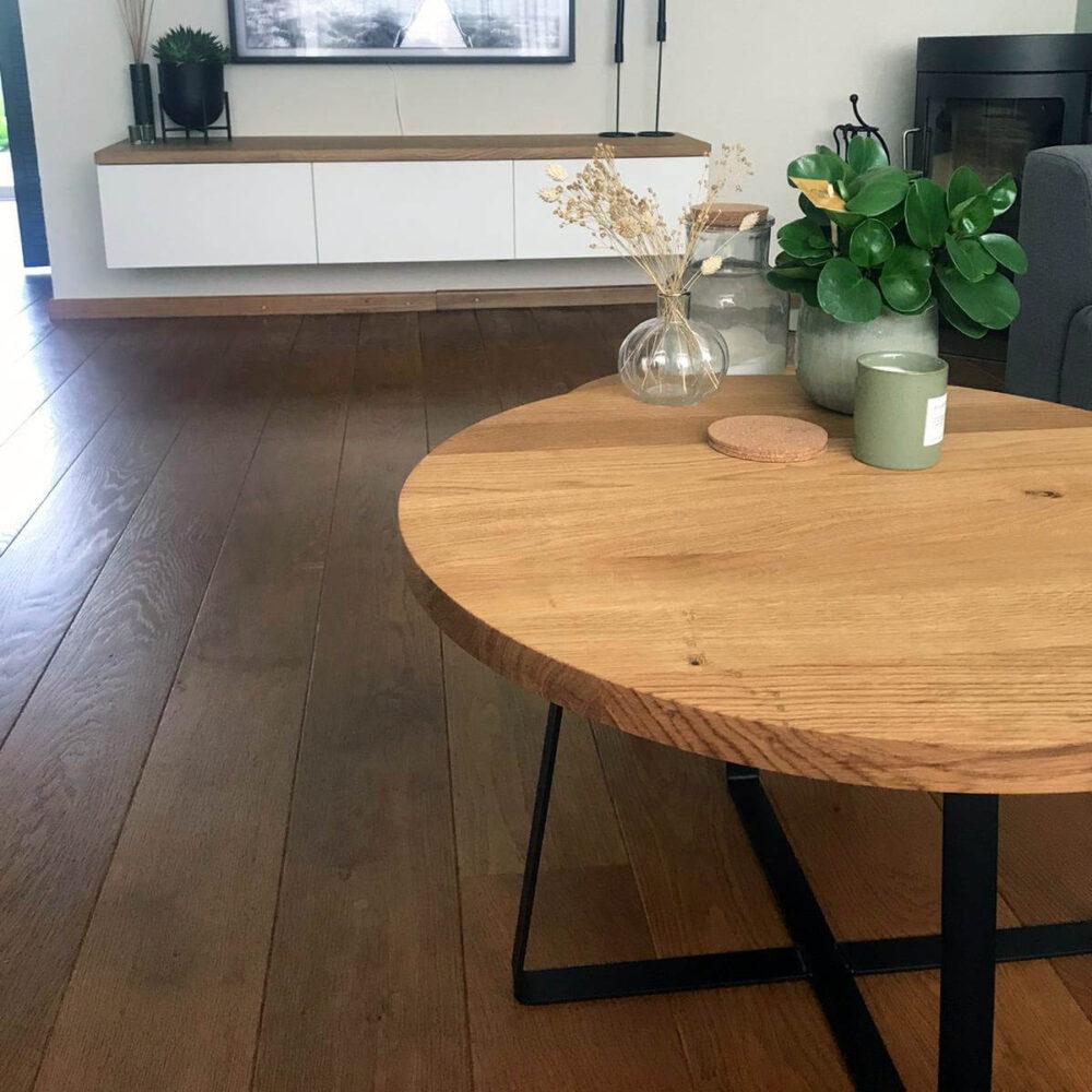 Eiken salontafel 70cm