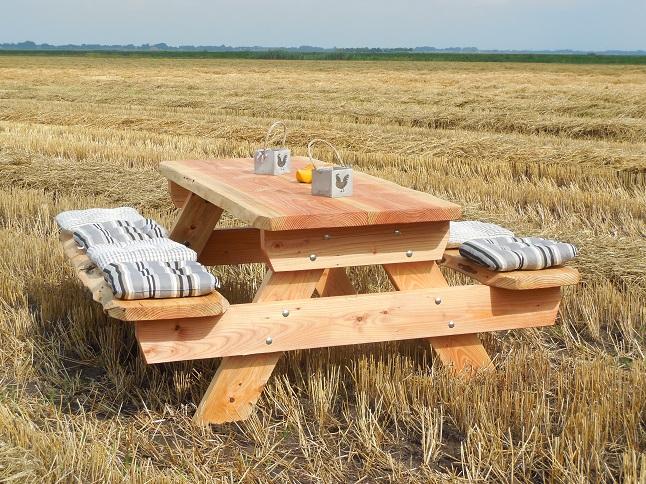 Lariks Douglas boomstam picknicktafel