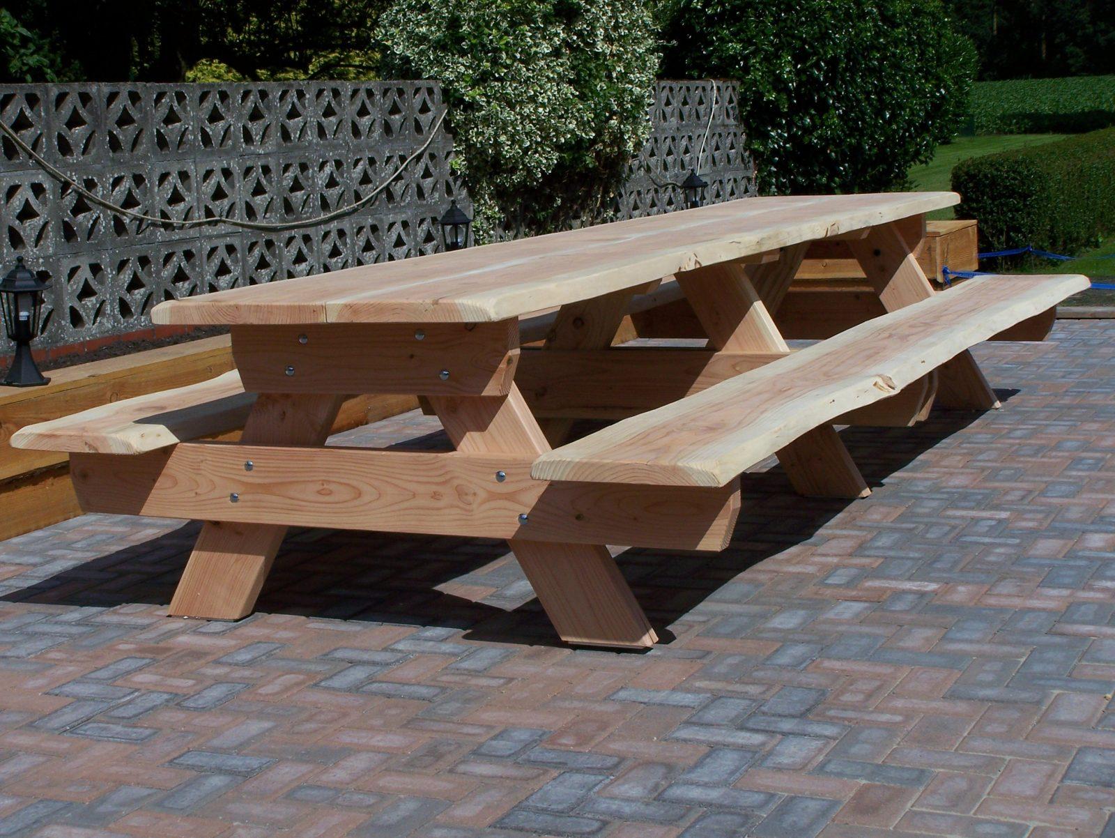 Picknick Tafel Stevig.Lariks Douglas Boomstam Picknicktafel Oregon