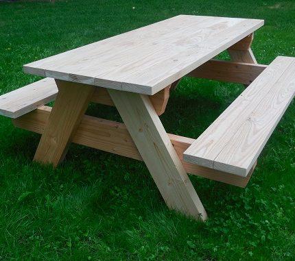 Lariks Douglas picknicktafel | Old Memphis