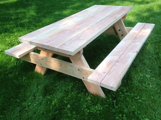 Massief lariks Douglas picknicktafel
