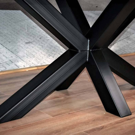 X (Spin) tafel onderstel van blauwstaal