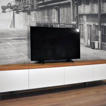 Zwevend TV Meubel MDF & Eiken | Centre