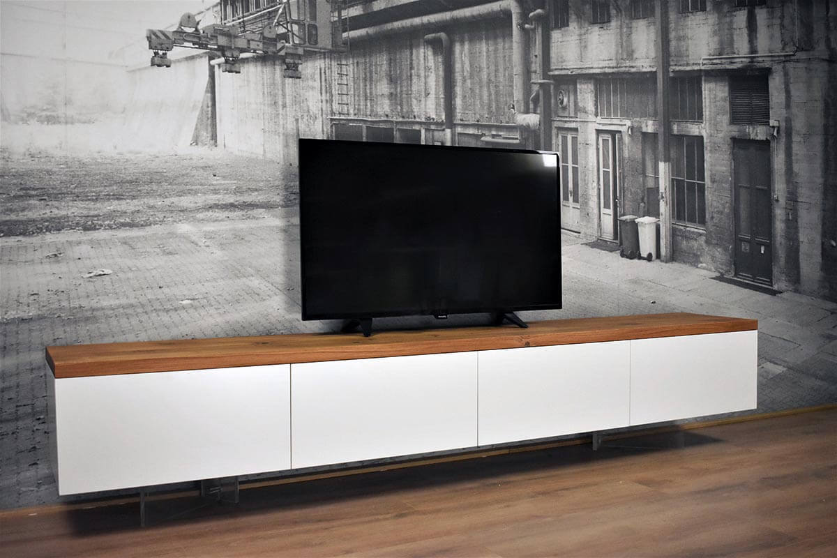 Tv Kast Zwart Wit.Zwevend Tv Meubel Mdf Eiken Centre Gewoonsfeervol Nl