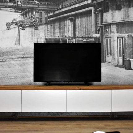 Zwevend TV Meubel MDF & Eiken