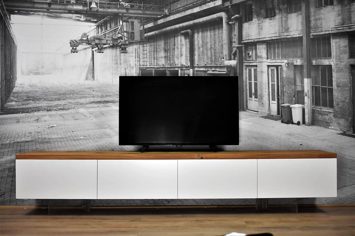 Tv Meubel Design Eiken.Zwevend Tv Meubel Mdf Eiken Centre