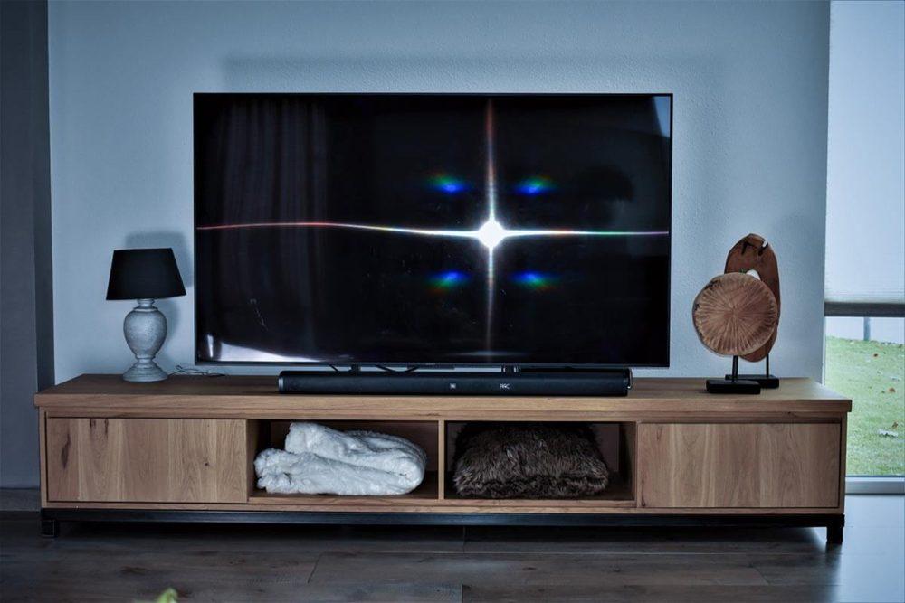Robuuste Eiken TV Meubel - open vakken