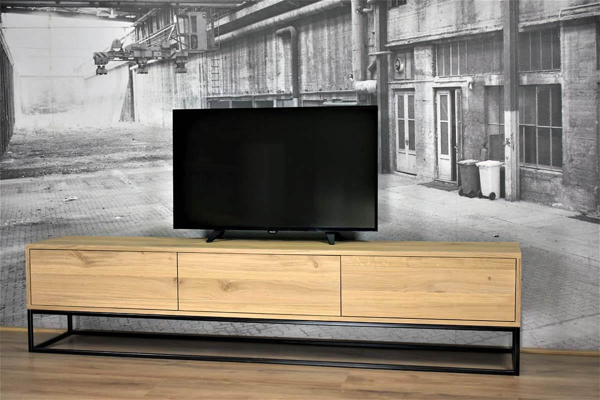 Tv Kast Hoog.Eiken Tv Meubel In Strak Design Stel Zelf Samen Gewoonsfeervol Nl
