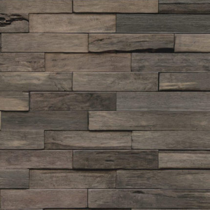 Donkergrijze 3d Wandpanelen van hout