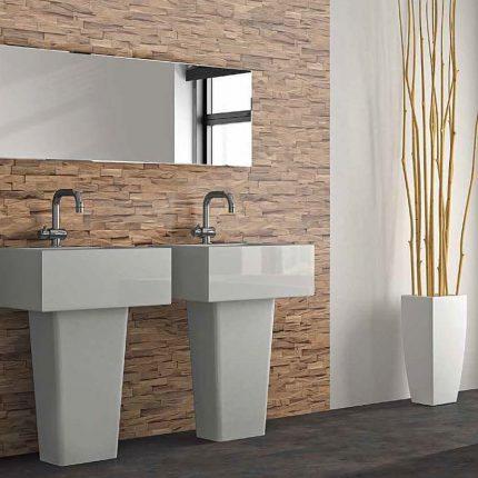 Decoratieve wandpanelen van walnoot hout - detailfoto