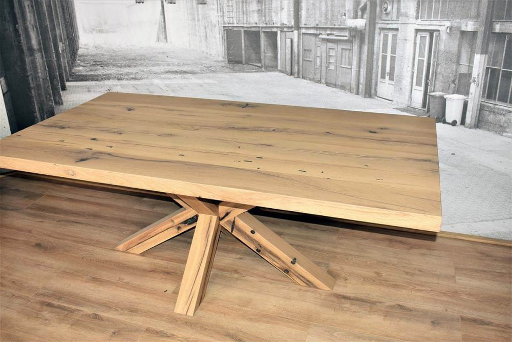 Massief oud eiken tafel | Troye