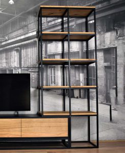 Optionele hoge wandkast voor TV meubel