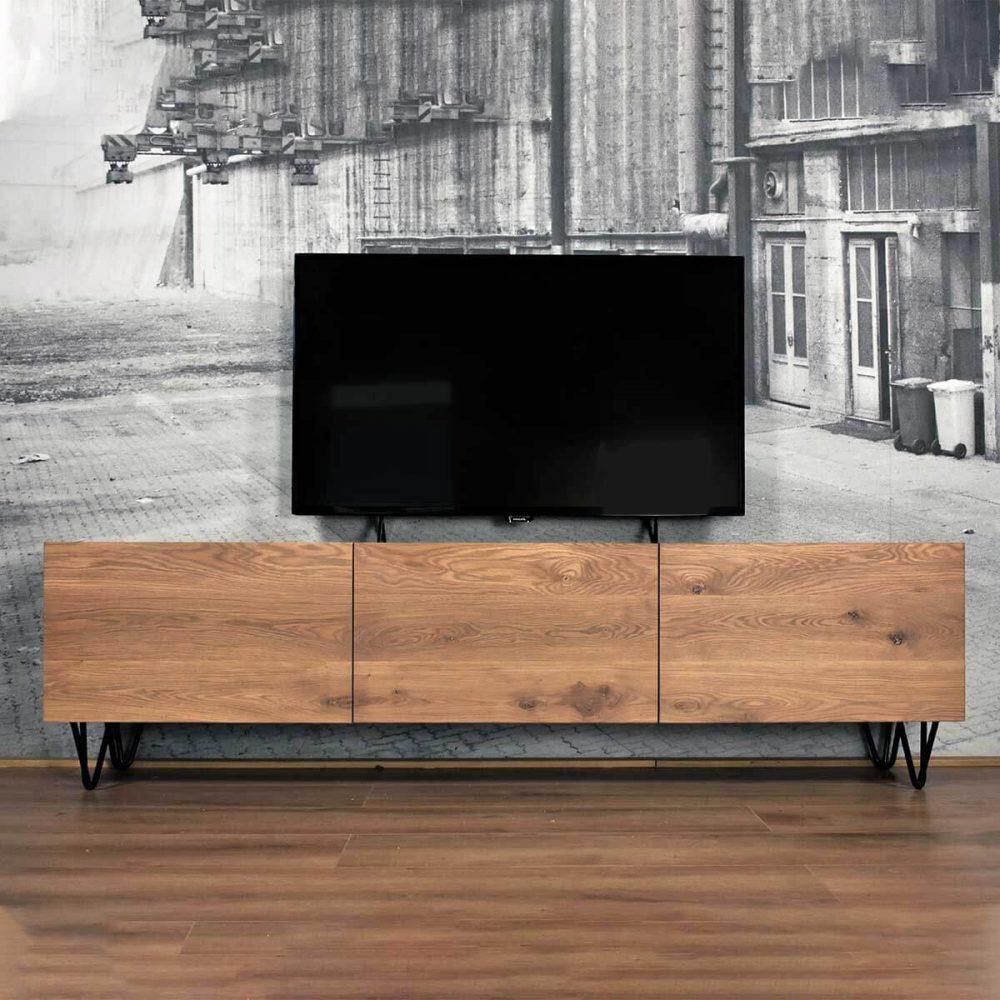 Vintage TV meubel van eikenhout