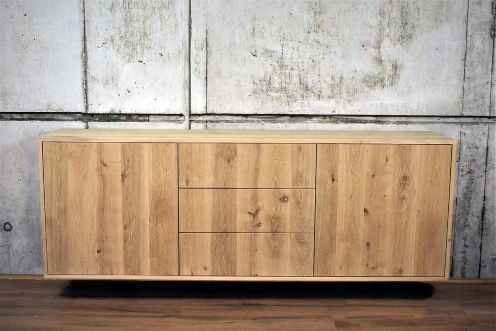 200cm breed eiken dressoir
