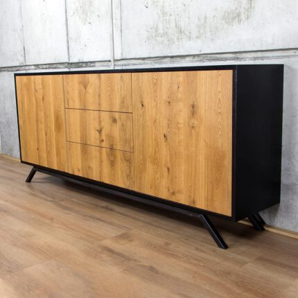 Eiken Dressoir Retro - Modern Design