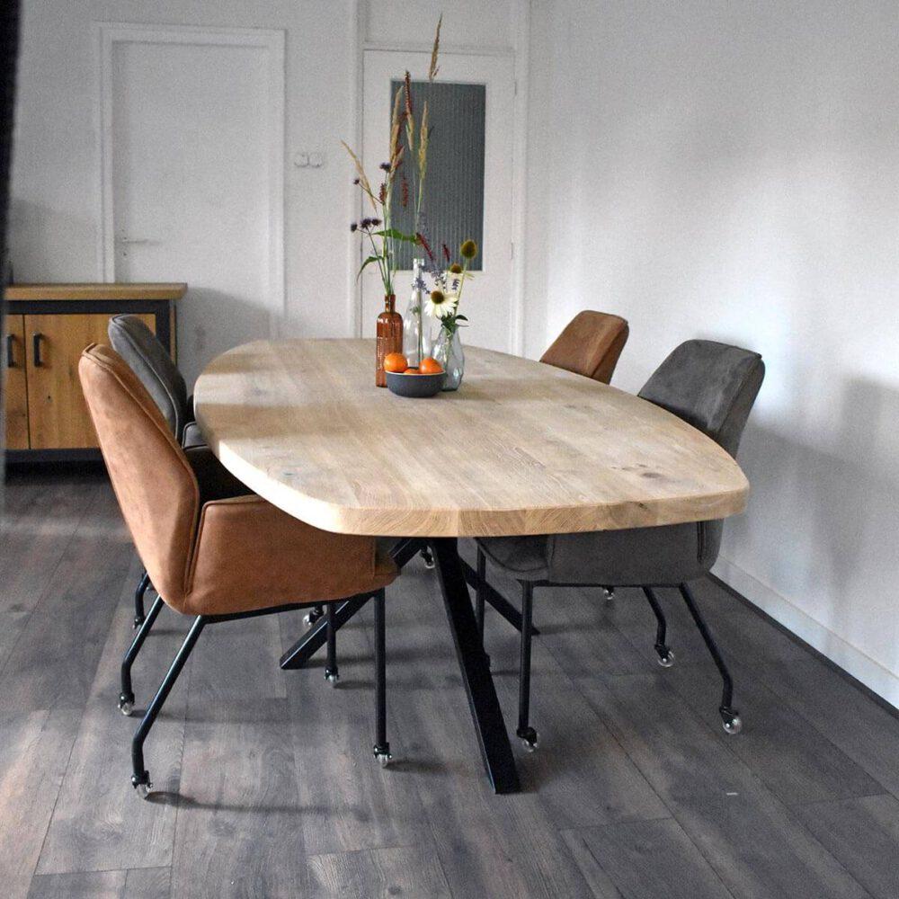 Deens ovaal eettafel eiken | Odense