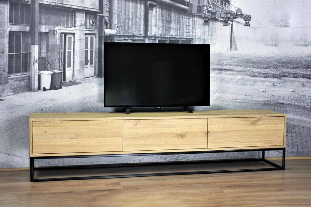 Staande TV meubel van eiken